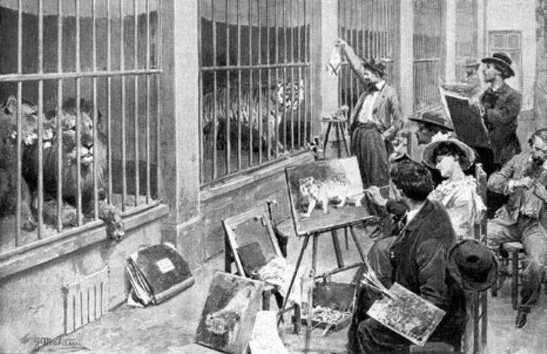Anonymous - Les artistes animaliers au Jardin des Plantes. Magazine « L'Illustration » du 7 août 1902 │© Anonymous / WikiCommons