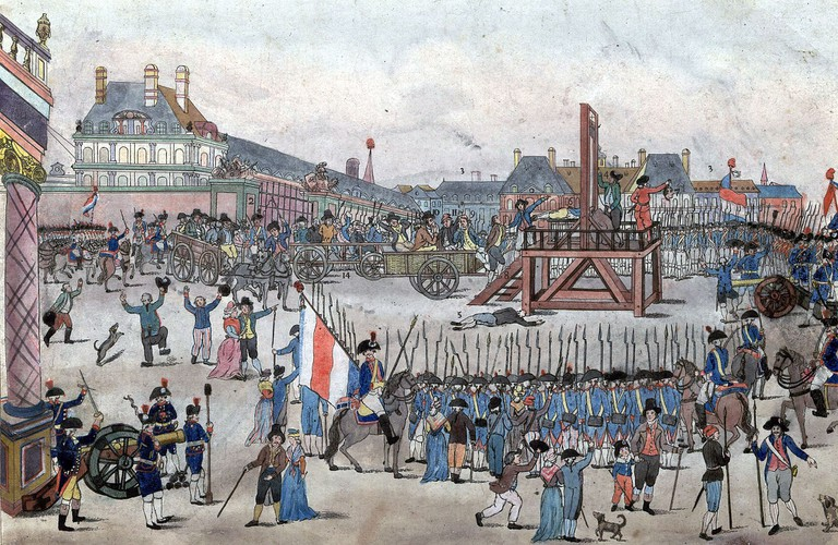 Anonymous - The execution of Robespierre and his supporters on 28 July 1794 (1794) │© Anonymous / WikiCommons
