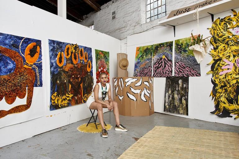 Lady Skollie in her studio