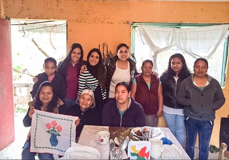 Some of the artisan women: Front row; Verónica, Francisca, Marisol. Back row: Yoseline, Lorena, María Antonieta, Fernanda, Marie, Elizabeth