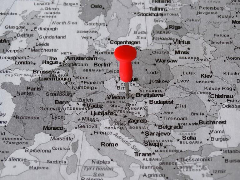 Vienna on the map | © 422737 / pixabay