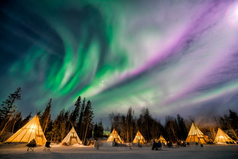 Yellowknife Northern Lights action