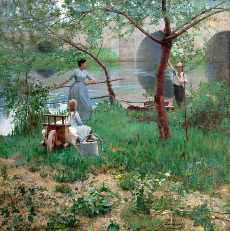 Under the Cherry Tree (1884), Sir John Lavery 1856-1941 | © National Museums Northern Ireland Collection Ulster Museum
