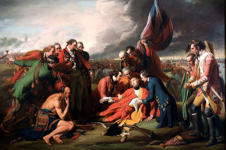 The Death of General Wolfe (1769)   Public Domain/ WikiCommons