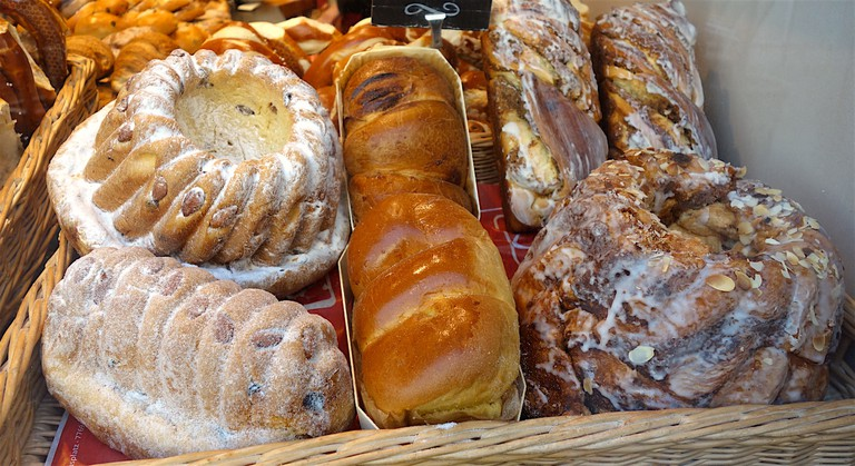 Delicious Kuhelhopf bundt-style pastries in Strasbourg