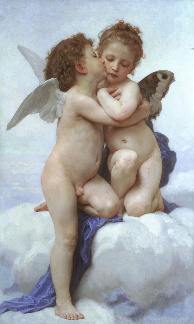 William-Adolphe Bouguereau, Amor and Psyche, 1890 | © Wiki Commons