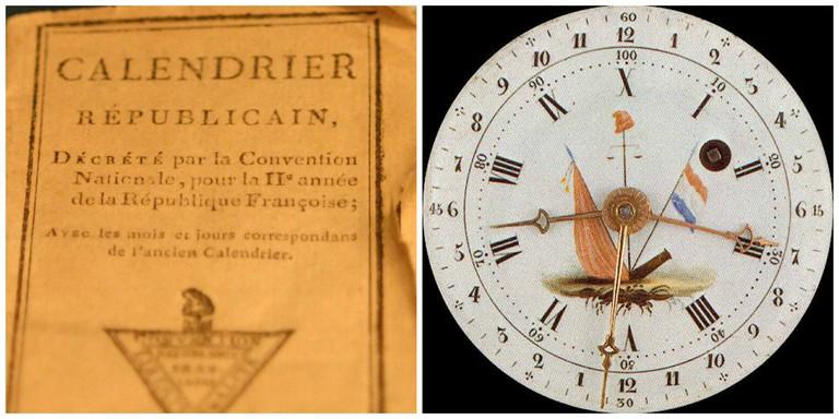 Calendrier et horloge républicain français │© WikiCommons