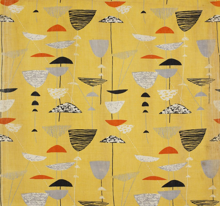Calyx screen-printed furnishing fabric, Lucienne Day, Heal's Wholesale & Export, 1951| © Robin & Lucienne Day Foundation