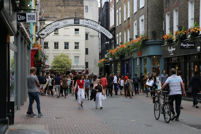 The view down Carnaby Street