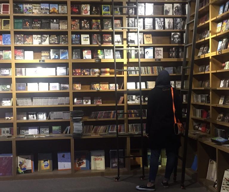 CDs and DVDs at Hanooz Bookstore | © Pontia Fallahi