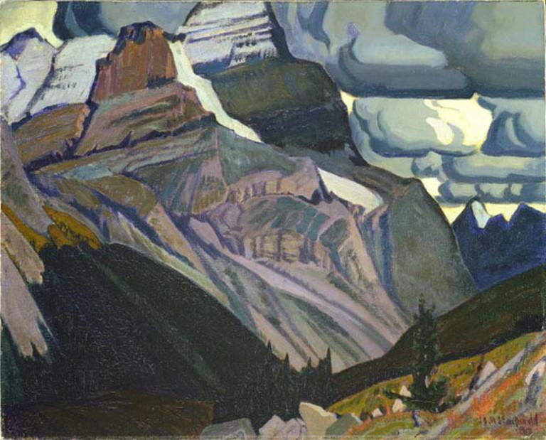 Dark Autumn, Rocky Mountains by James MacDonald, (1930) | Public Domain/WikiCommons
