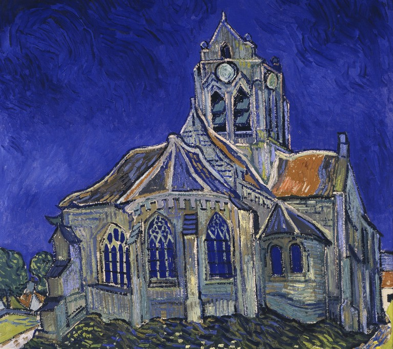 Detail of 'The Church at Auvers,' painted by Vincent Van Gogh in 1890 now hanging in the Musée d'Orsay in Paris | WikiCommons