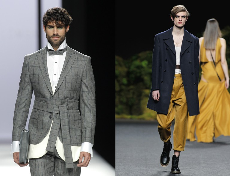 Devota y Lomba (left) suggests belting your suit or Juanjo Olivia (right) says even your undershirt| © Foto Ugo Camera/IFEMA