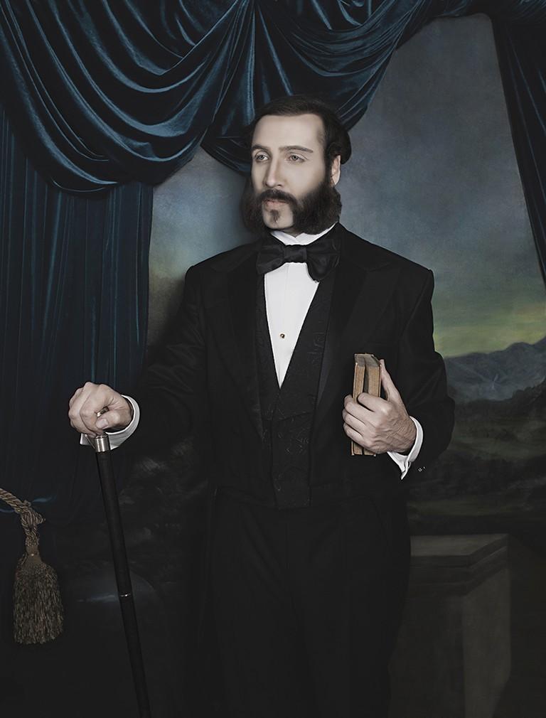 Fuchs dressed up as Don Eulogio Elespuru y Martínez de Pinillos| Courtesy of Christian Fuchs