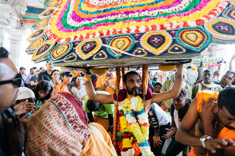 The Kavadi can weigh several kilograms and will be carried up the Batu Caves steps | Irene Navarro / © Culture Trip