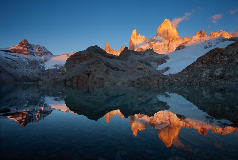 Sunrise in Mount Fitz Roy, Argentine Patagonia