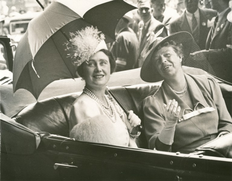 Eleanor Roosevelt and Queen Elizabeth en route to the White House from Union Station. June 8, 1939 | @ FDR Presidential Library & Museum/Flickr
