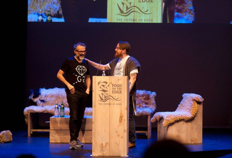 JP McMahon and Massimo Bottura at Food on the Edge 2016 | Courtesy of Food on the Edge