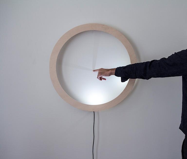 Interactive clock at Frederieke Taylor Gallery © breadedEscalope