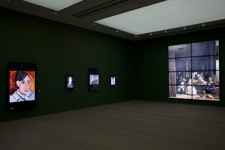 Installation view, Picasso, Munch, Schiele and Velazquez