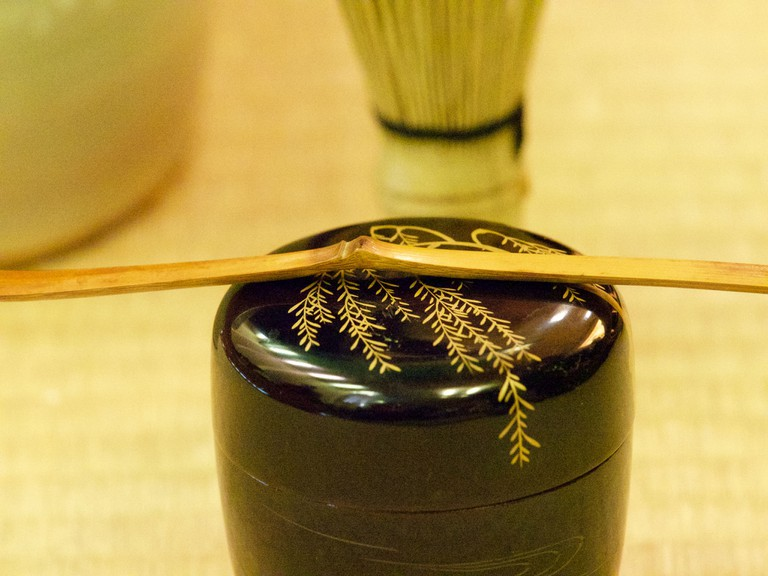 Getting ready for the Japanese tea ceremony