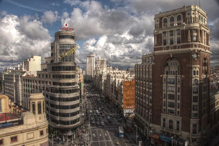 Madrid's magnificent Gran Vía street | © Felipe Gabaldón/Wikipedia