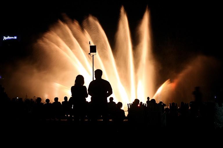 Light fountains at the Planten un Blomen | Pixabay