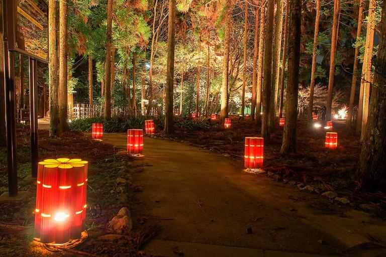 Hanatoro at Choujin no mori Park in Kyoto
