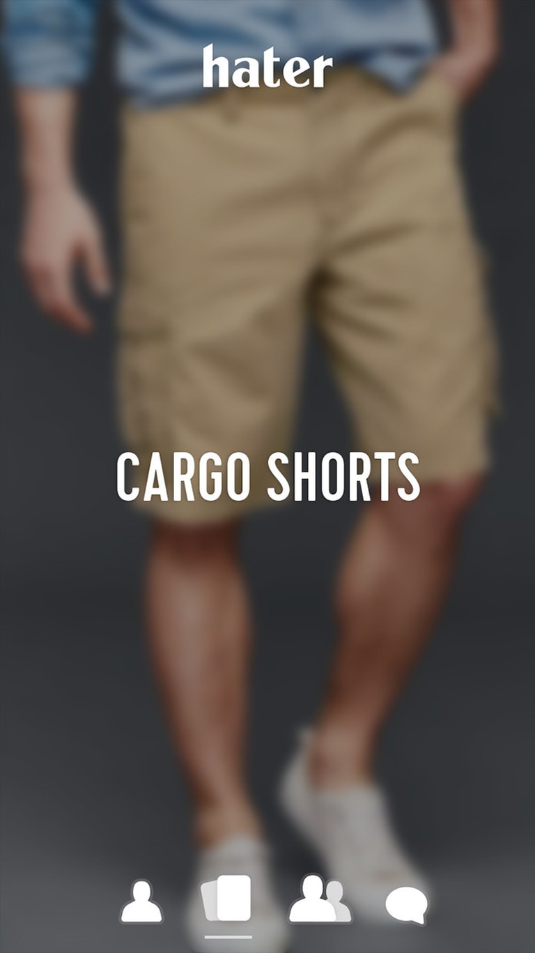 People really seem to hate cargo shorts © Hater
