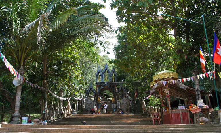 The entrance to Phnom Kulen's temple in the Kulen National Park | ©Gail Palethorpe/Shutterstock