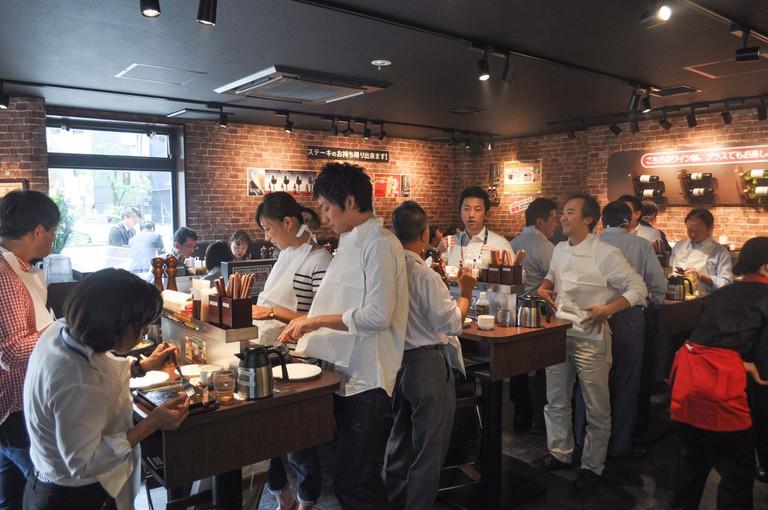 One of Ikinari Steak's locations in Japan | Ikinari Steak
