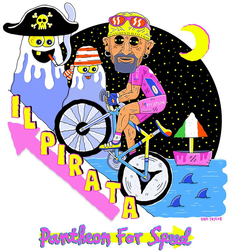 Marco Pantani as Il Pirata. | © Sam Taylor