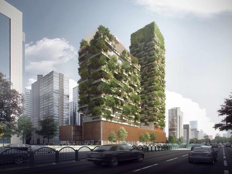 Nanjing Green Towers © Stefano Boeri Architects