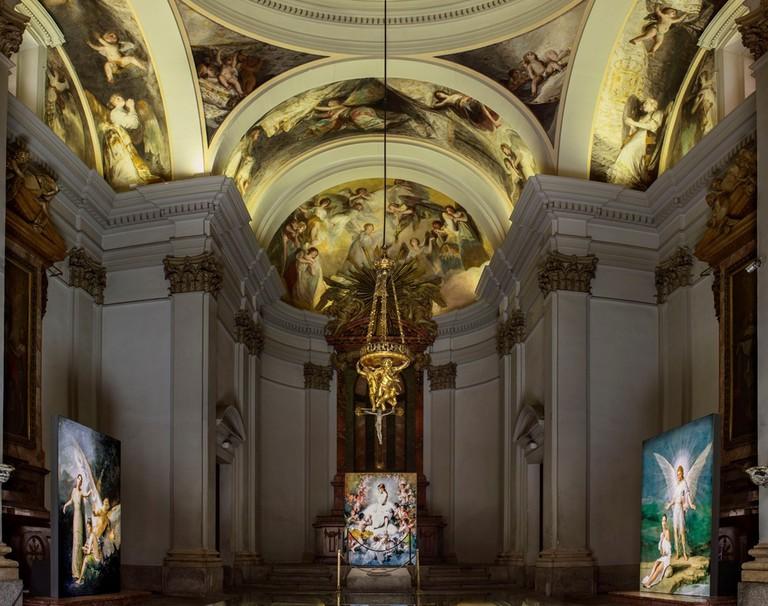 A view of 'Angelas' at the Chapel San Antonio de la Florida in Madrid | © Denise De La Rue
