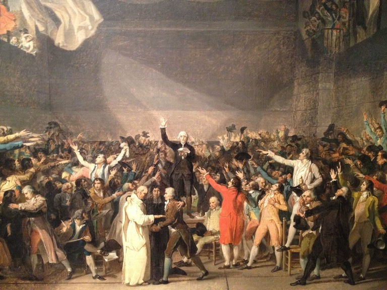 Jacques-Louis David - Serment du Jeu de Paume (1791) │© Jacques-Louis David / WikiCommons
