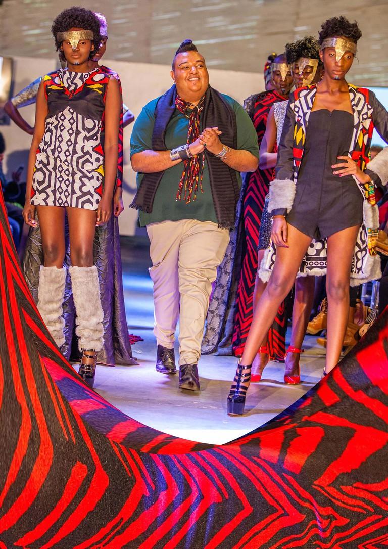 Jamil Walji of JW Couture on the runway during a show 2016 | Courtesy of Jamil Walji