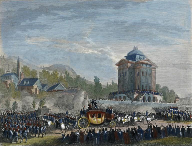 Jean Duplessis-Bertaux - Retour de Varennes. Arrivée de Louis Seize à Paris, le 25 juin 1791 (1791) │© Jean Duplessis-Bertaux / WikiCommons