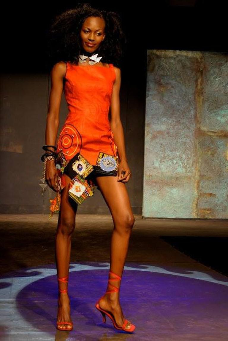 Gertrude models a Kikoromeo design during the 2009 FAFA festival | © Abraham Ali