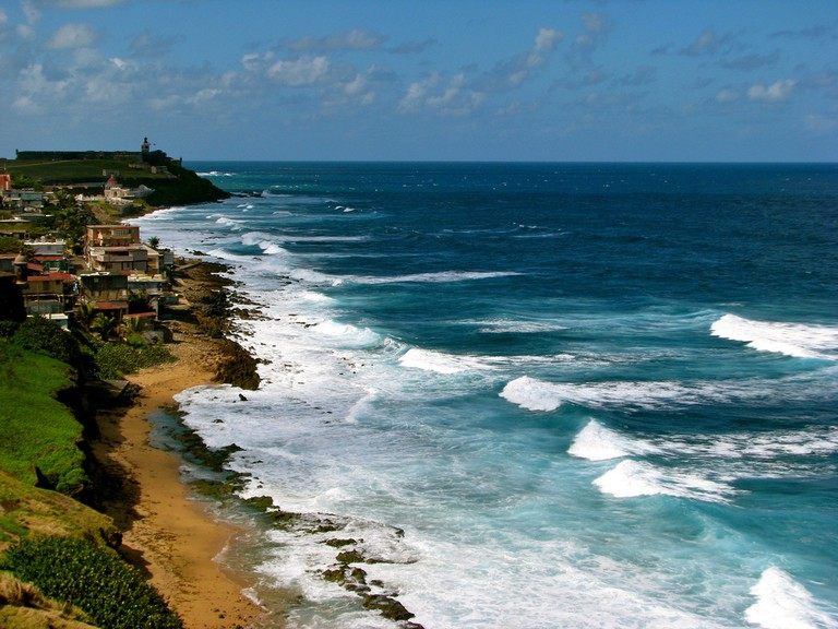 La Perla (center-left) and the Coastline   © Jeff Gunn/ Flickr