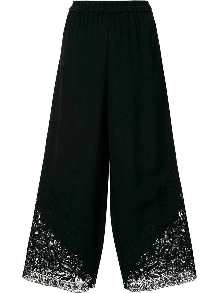Lace hem cropped trousers by Kobi Halperin | Courtesy of Farfetch