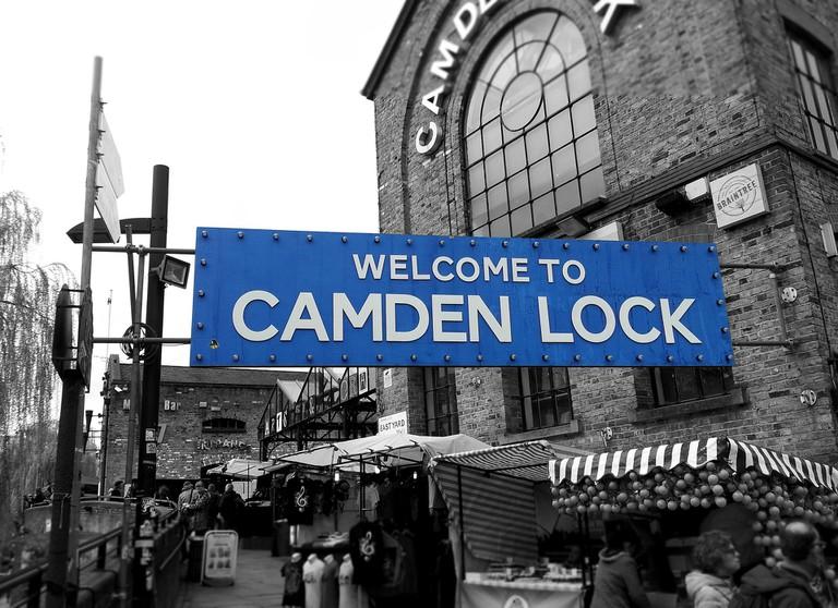 The Camden Lock sign