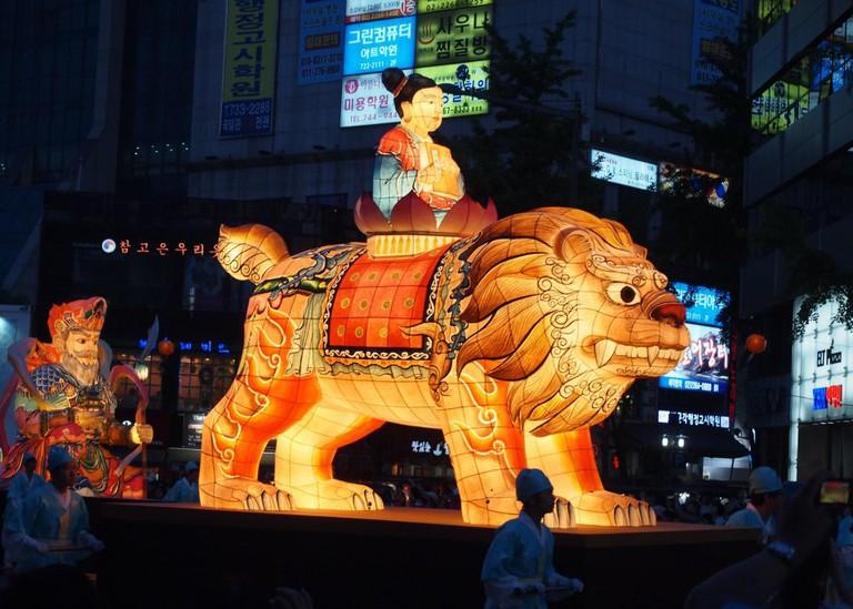 Lotus Lantern Parade in Seoul | © Mimsie Ladner