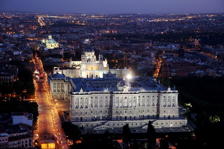Madrid's palace and cathedral from up high | © Madrid Destino Cultura Turismo y Negocio