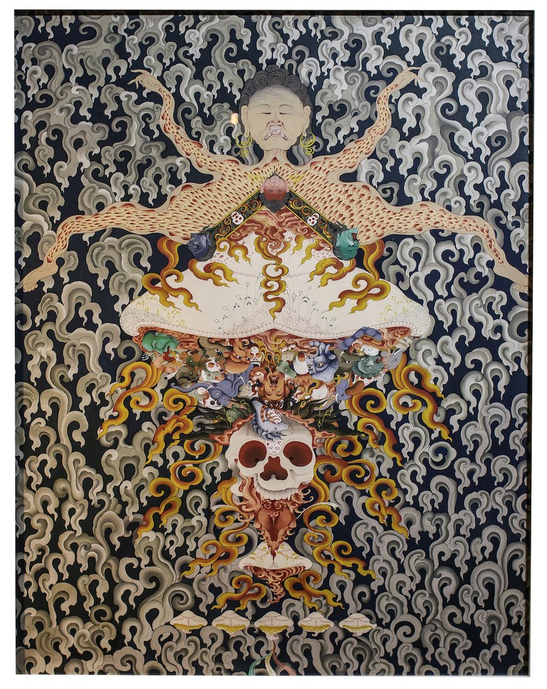 Gyempo Wangchuk, Offerings of the Learned (2016). All images courtesy of the artist and Joseph Maxwell