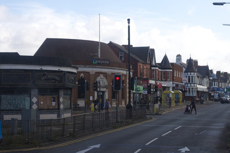 Penny Lane - Roundabout and bank