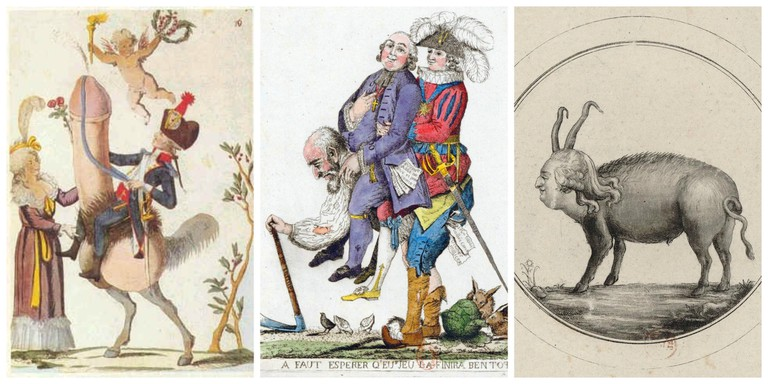 Political cartoons from the time of the French Revolution │© Anonymous, Anonymous, M.P. / WikiCommons