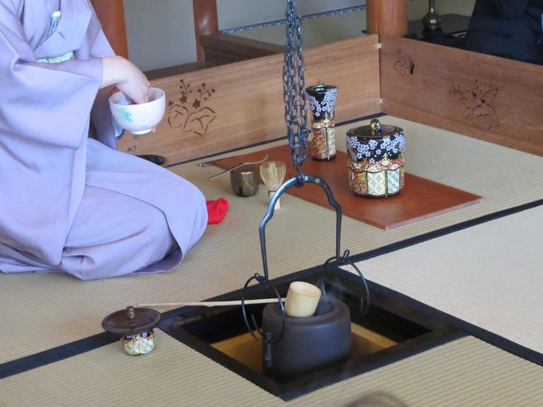 Preparing the Matcha Green Tea