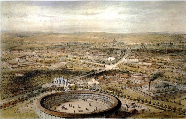 An illustration of the Puerta de Alcalá in the 1850s | © Alfred Guesdon/Wikipedia