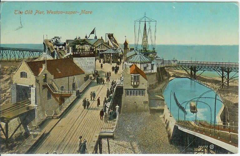 Retro postcard of Weston-super-mare