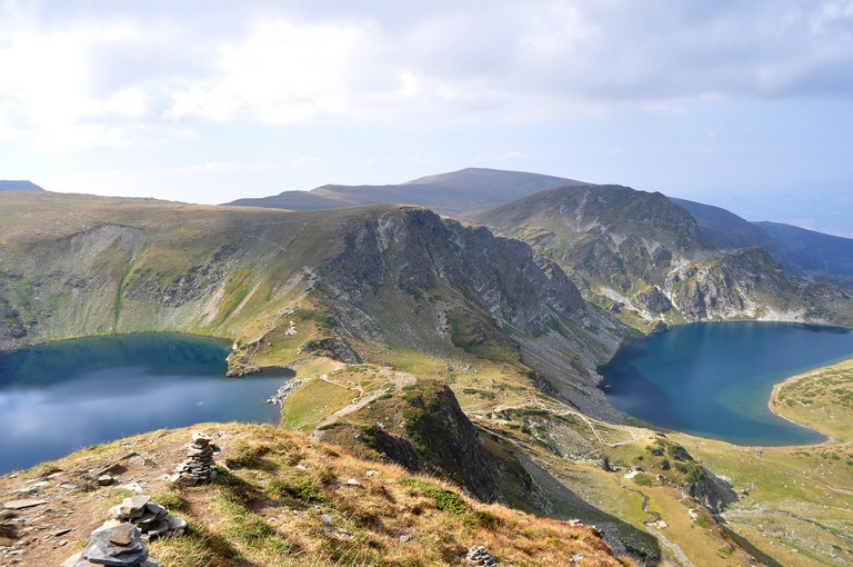 View of the Seven Rila Lakes